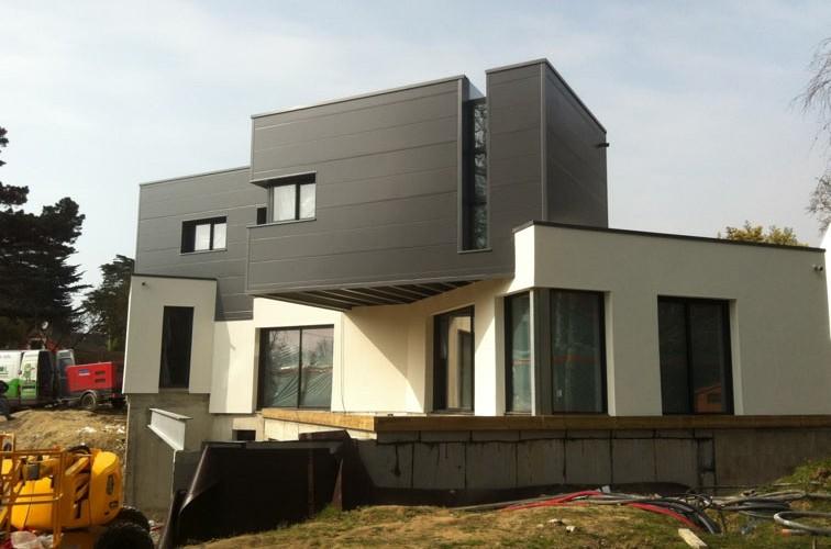 Maison d habitation pornichet proacier constructions m talliques charpen - Bardage metallique maison ...